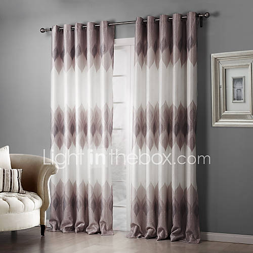panels curtain country bedroom polyester material blackout curtains