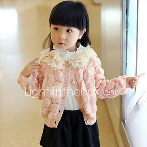 la mode rose doux tricot chandail de fille