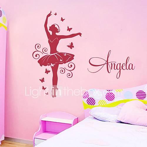 Jiubai gepersonaliseerde danser muursticker muur meisje kamer sticker dan kunt u bieden een - Muur kleur babykamer meisje ...