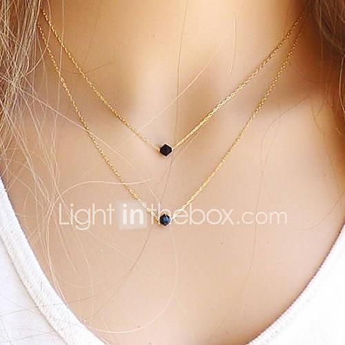 collar europeo dos negro joya pequeño colgante (1 pc)