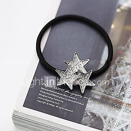 pleine pentacle Stars Diamond liens de cheveux
