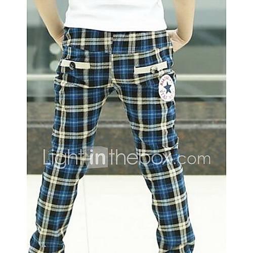 Boy's Grid Pants