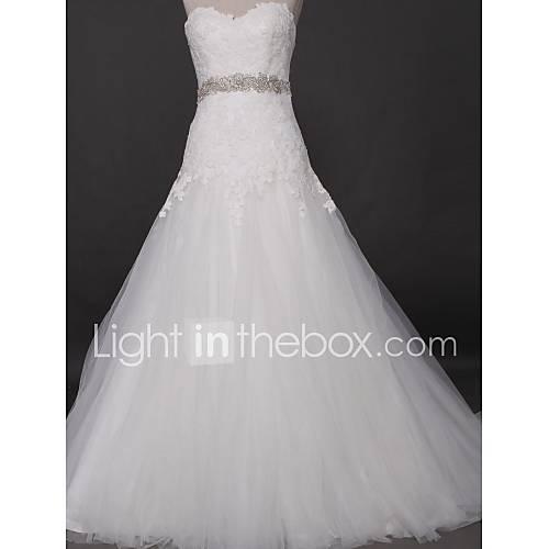 Lanting Bride® Leger & Aufgebauscht Hochzeitskleid Hof Schleppe ...
