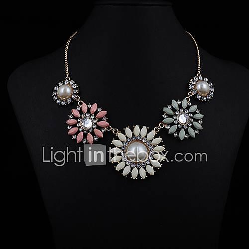 Eternity Women's Multi Color Flower Gem Necklace