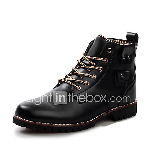 Hombre tac n bajo confort botas a la modaexterior oficina for Zapatos de trabajo blancos