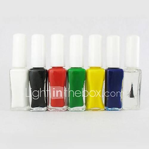 nail art peinture professionnelle kit ongles (7 couleurs)