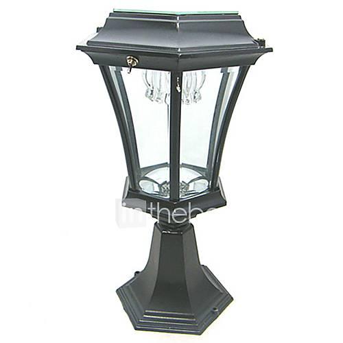 Welhome Bollard Light Garden Pedestal Led Solar Lamps