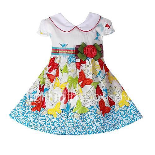 les robes de princesse robe d 39 t coton belle f te des enfants de v tements pour fille de. Black Bedroom Furniture Sets. Home Design Ideas