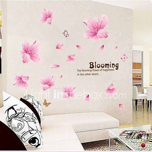 doudouwo adesivos de parede adesivos de parede, florais os quentes e belas pvc lírio adesivos de parede