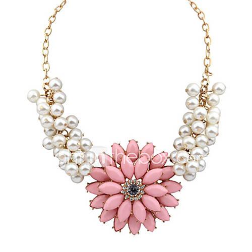 masoo métal collier scintillement de diamant des femmes