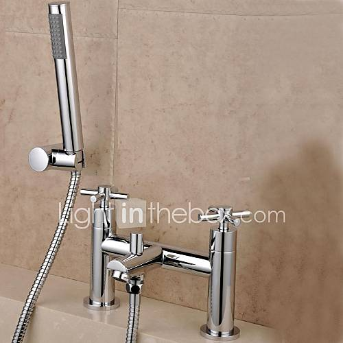 Eigentijdse engels stijl chroom messing dubbele gaten dubbele handgrepen badkamer bad douche - Eigentijdse douche ...