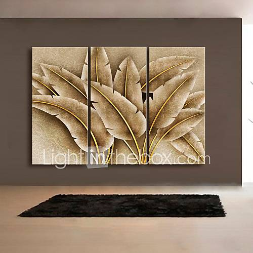 Abstract Fantasy Botanical Canvas Print Three Panels