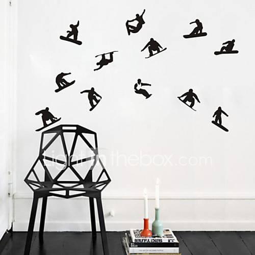 wandaufkleber wandtattoo skater boy skifahren pvc. Black Bedroom Furniture Sets. Home Design Ideas