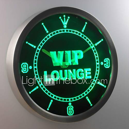 nc0413 vip lounge bar club kneipe bier wein leuchtreklame led wand uhr 1983955 2016. Black Bedroom Furniture Sets. Home Design Ideas