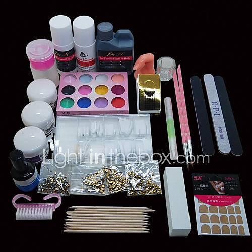 46pcs-pro-nail-art-cartilha-kit-projeto-acrilico-set-po-manicure