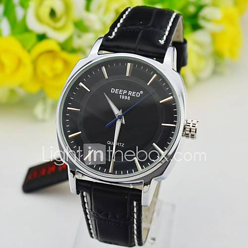 Men s business dress watch high quality quartz wrist watch japan movt leather strap assorted for Celebrity quartz watch japan movt