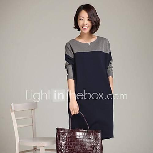 Women's Plus Size Contrast Color Dress