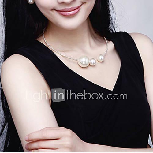 tout correspondant élégant collier de perles de femmes lora