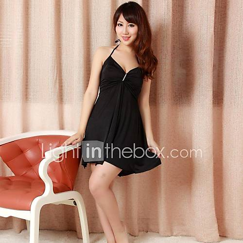 Elonbo women 39 s sexy backless style hang a neck lingerie for Chicas guapas en ropa interior