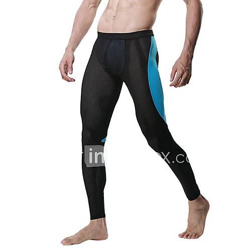 mode couleur correspondant filet mince pantalon long sous-vêtements des hommes