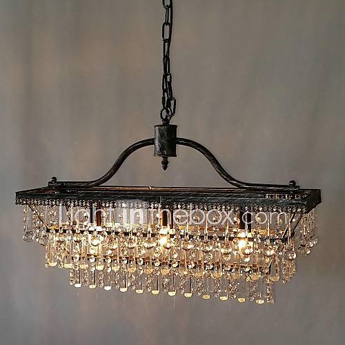 Dining Room Chandeliers Traditional Crystals: MAX:60W Traditional/Classic Crystal Metal Chandeliers