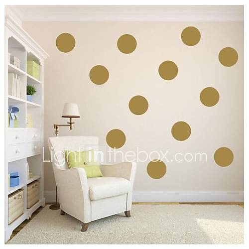 jiubai gold polka dot wall sticker wall decal 18cm dot 10dots set 2136351 2016. Black Bedroom Furniture Sets. Home Design Ideas