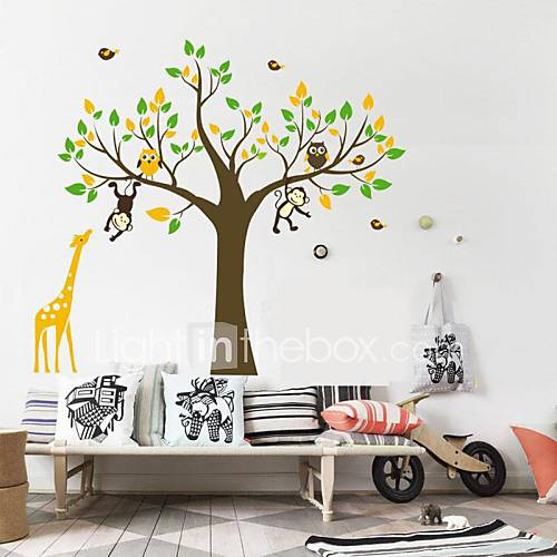 ... muur cartoon muur sticker diy dier stickers voor kinderkamer
