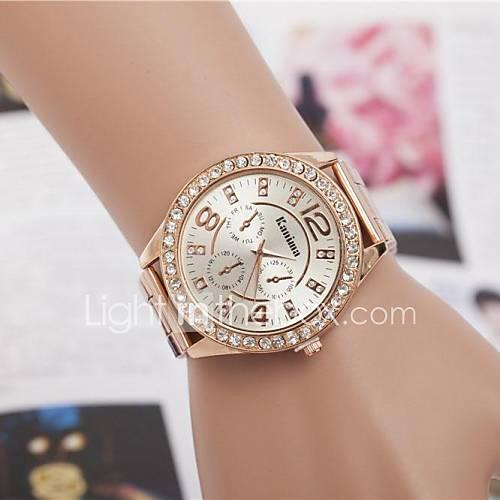 Mujer Reloj de Vestir / Reloj de Moda / Reloj de Pulsera Cuarzo Brillante Aleación Banda Destello Plata / Dorado / Oro Rosa Marca Descuento en Lightinthebox