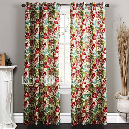 twopages-dois-paineis-pais-contemporaneo-flores-de-estilo-da-pintura-de-tinta-cortinas-florais-cortinas