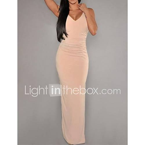 Women's Nude Cut-Out Backless Party Dress