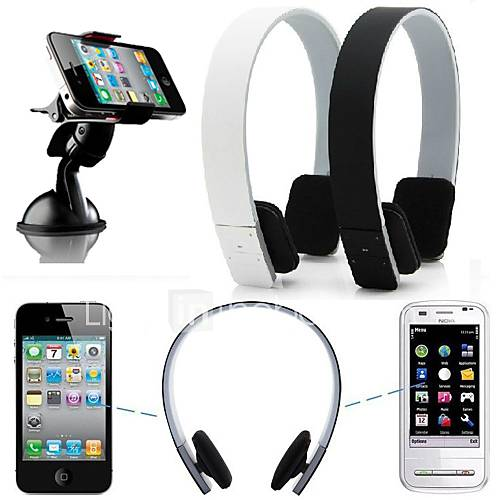 stereo wireless bluetooth headphone earphone headset for iphone 6 6plus 5 5s 4 4s samsung htc lg. Black Bedroom Furniture Sets. Home Design Ideas