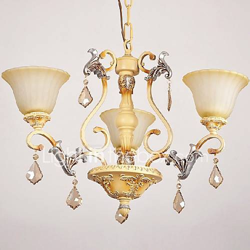 Dining Room Chandeliers Traditional Crystals: Max 60W Traditional/Classic Crystal Painting Chandeliers
