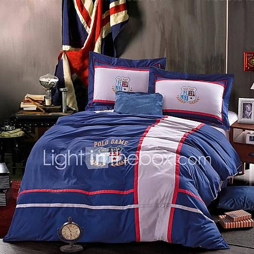 fadfay fashion kids bedding set boys unique men bedding sets blue sports bed in a bag queen. Black Bedroom Furniture Sets. Home Design Ideas