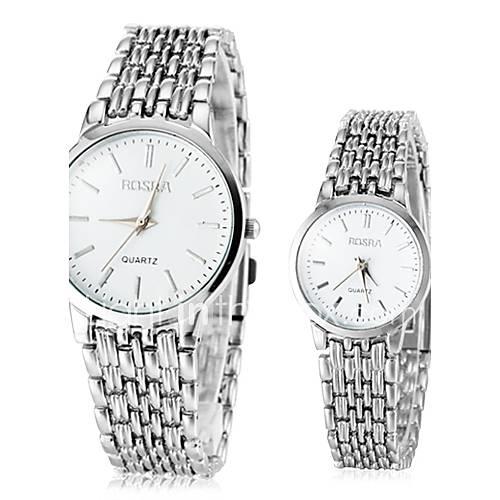 Hombre / Mujer / Pareja Reloj de Vestir Cuarzo Aleación Banda Plata Marca- Descuento en Lightinthebox