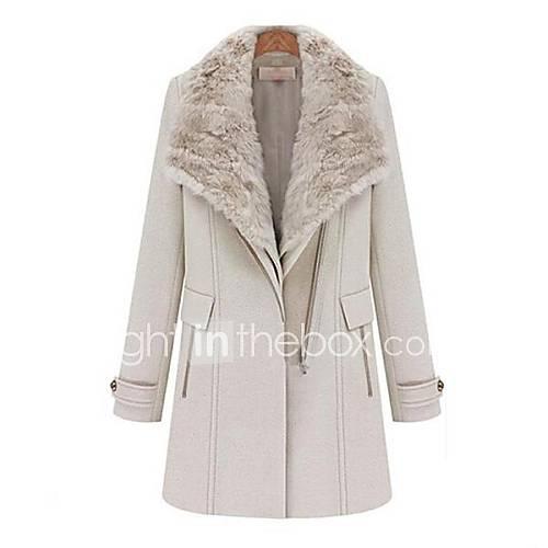 mode revers de femmes deux styles porter trench en laine