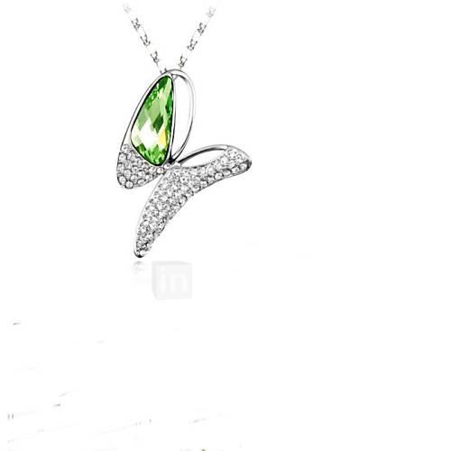 magia bowknot curto colar banhado a ouro 18k verdadeiro peridoto platina cristalizado strass cristal austríaco