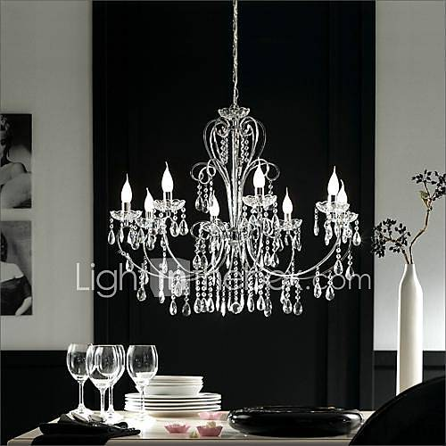 max 60w chandelier traditional classic chrome feature