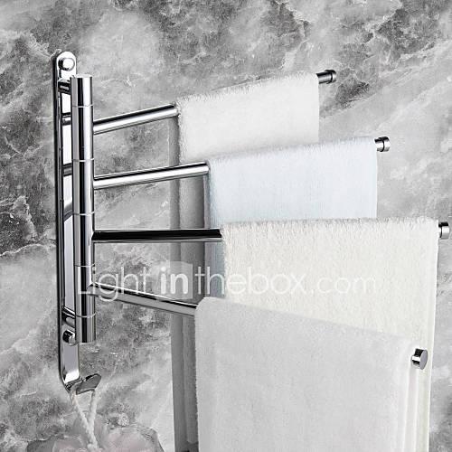 Towel Bar Chrome Wall Mounted 328 X 300mm 12 9 X 11 8