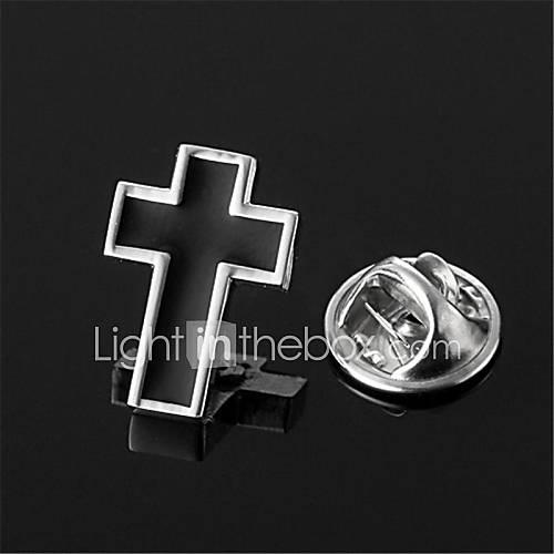moulin à vent crucifix croix en argent revers badge emblème de broches hommes noirs