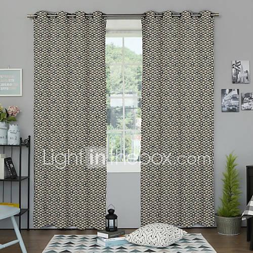 desenhador-neoclassico-dois-paineis-geometricos-multi-cor-do-painel-de-poliester-cortinas-quarto-cortinas
