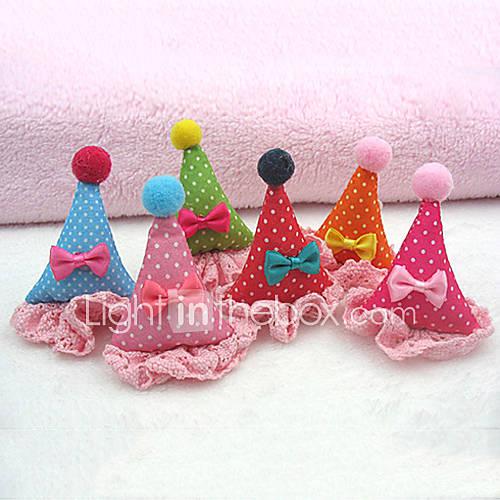 accessoires de cheveux beau modèle de fleur de Noël de style de chapeau pour animaux chiens