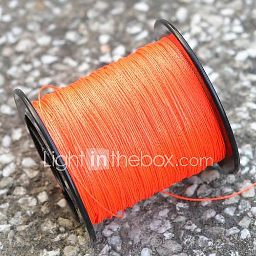 200m 220 yards pe braided line dyneema superline for Orange fishing line