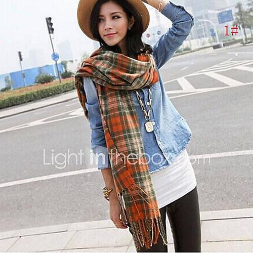 women-winter-warm-imitation-wool-grid-scarves