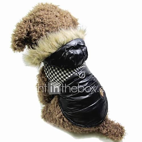 gato-cachorro-casacos-camisola-com-capuz-colete-roupas-para-caes-mantenha-quente-fashion-color-block-preto-marron-ocasioes-especiais-para