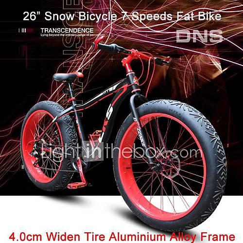 7 geschwindigkeiten 26 schneefahrrad fett fahrrad 4cm. Black Bedroom Furniture Sets. Home Design Ideas