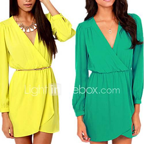 moda-cor-solida-vestido-de-manga-longa-das-mulheres-osim