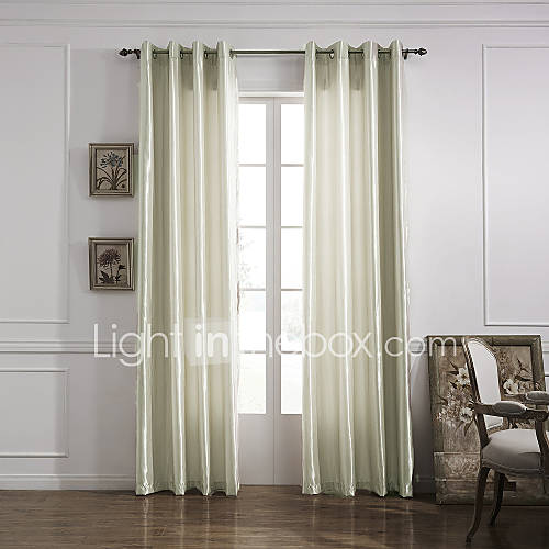 Minimalist Outdoor Contemporary Curtains Modern One Panel Solid Ivory Living Room Polyester Panel Curtains Drapes 1252