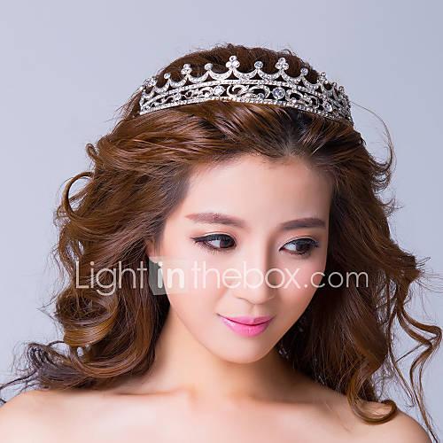 alliage avec strass princesse tiare argenté gracieux