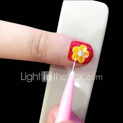 Aiguille 12pcs de sculpture&accrocher point clou fantaisie sertie pour l'outil de nail art