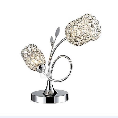 Flores dobles l mparas de escritorio de cristal k9 l mpara - Lamparitas de noche ...